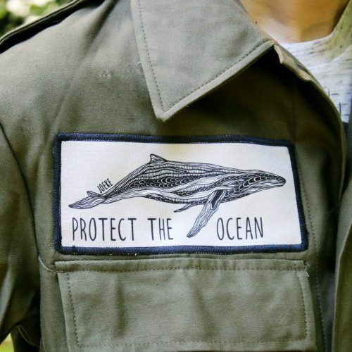 Sew-On Patch Whale