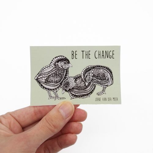 Stickers Be The Change – Chicks (4 pcs)