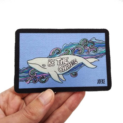 Sew-On Patch Whale – Be the change 🐋