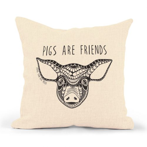 Pillowcase – Pigs are friends