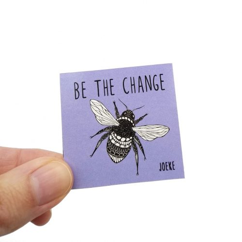 Stickers Be the change (Bee) (10pcs)