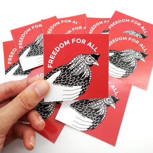 Stickers Chicken Freedom (4pcs)