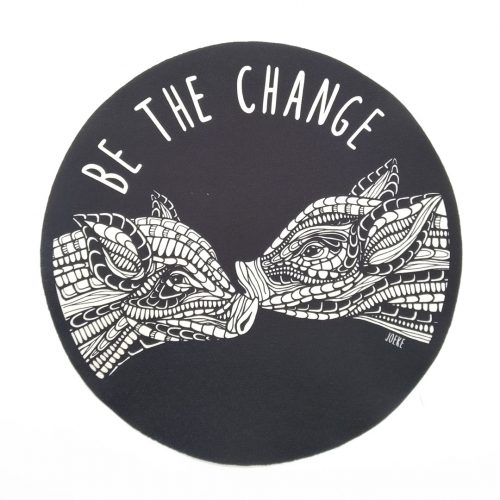 Sew-On Patch Oversized – Be the change