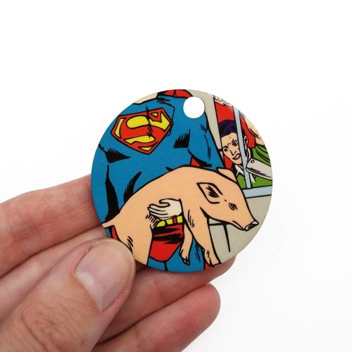 Wooden Pendant – Superhero