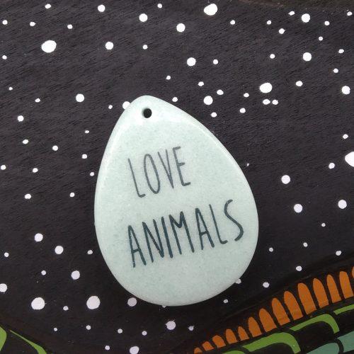 Gemstone Pendant – Turtle (love animals)