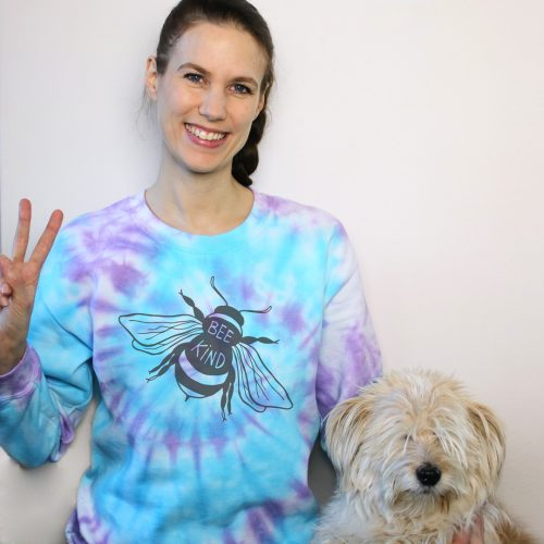 Tie Dye Sweatshirt Bee Kind