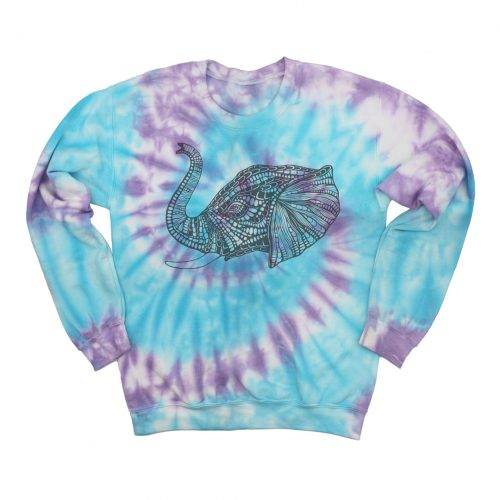 Tie Dye Sweatshirt Elephant