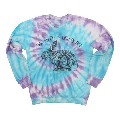 Tie Dye Sweatshirt Beautiful Bunny