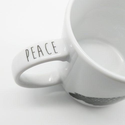 Mug Owl – Peace (text)