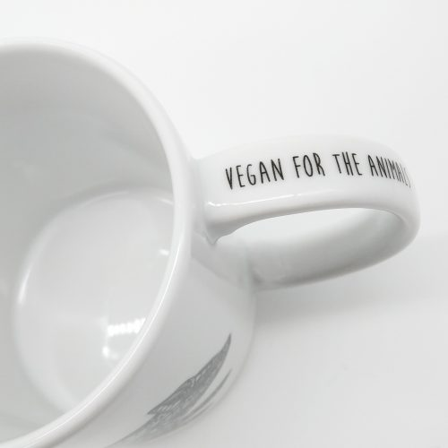 Mug Running Piglet – Vegan for the animals