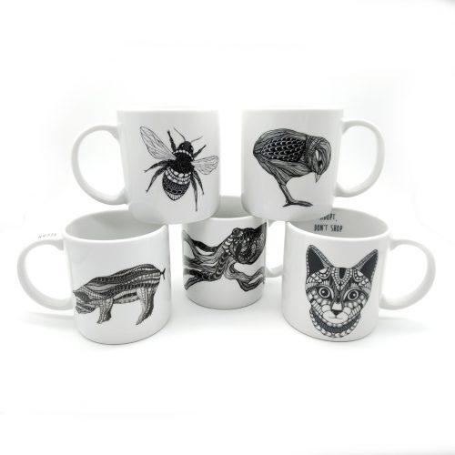 Set of 5 Mugs – Peace