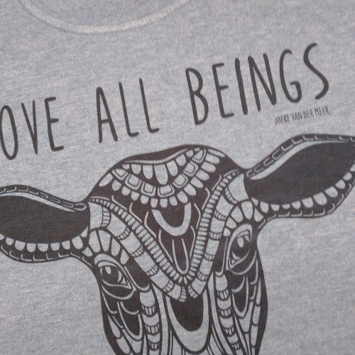 Shirt – Men / Unisex – Love all beings Calf (size L)