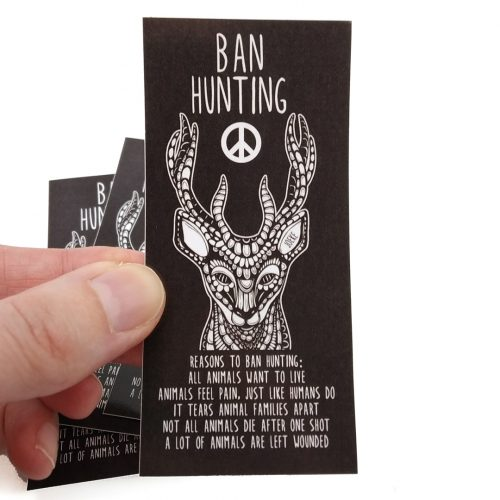 Stickers Ban Hunting (4pcs)