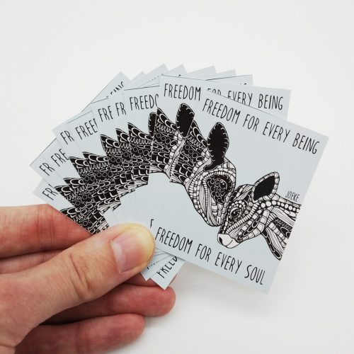 Stickers Freedom Cows (10 pcs)