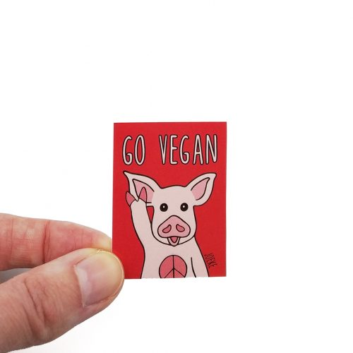 Stickers Go Vegan (4pcs)