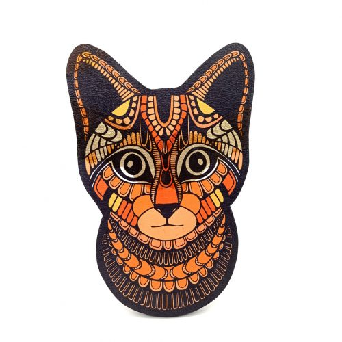Print on wood – Cat