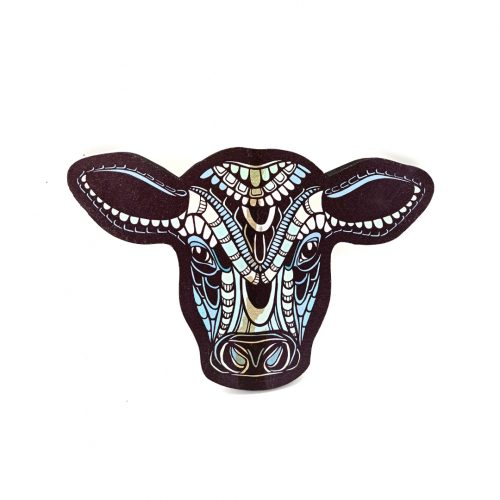Print on wood – Cow (small)
