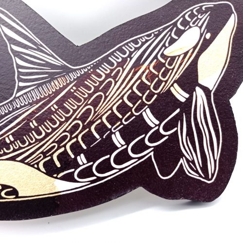 Print on wood – Killerwhale