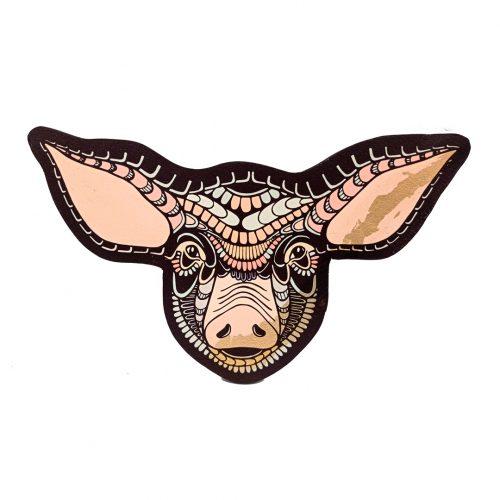 Print on wood – Pig