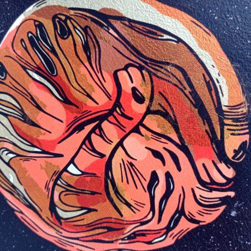 Print on wood – Planet Cat