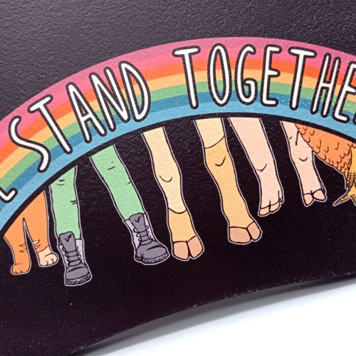 Print on wood – We stand together
