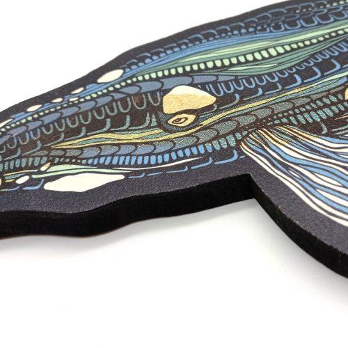 Print on wood – Whale