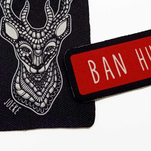 Sew-On Patch Pack – Ban Hunting (2 pcs)