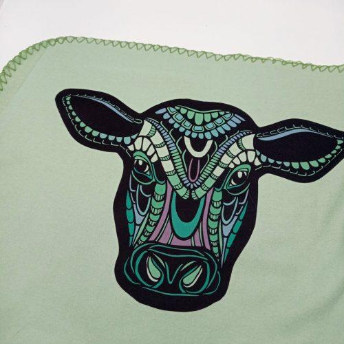 Fleece Blanket Vegan Cow + Free cathair