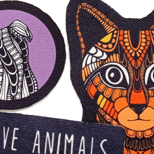Sew-On Patch Pack – Love & Adopt (4pcs)