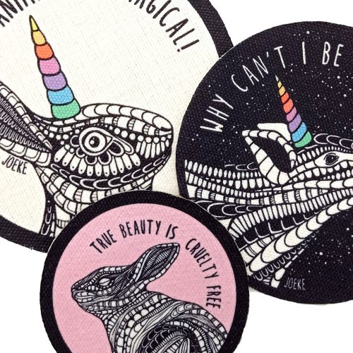 Sew-On Patch Pack – Magical Animals (3 pcs)