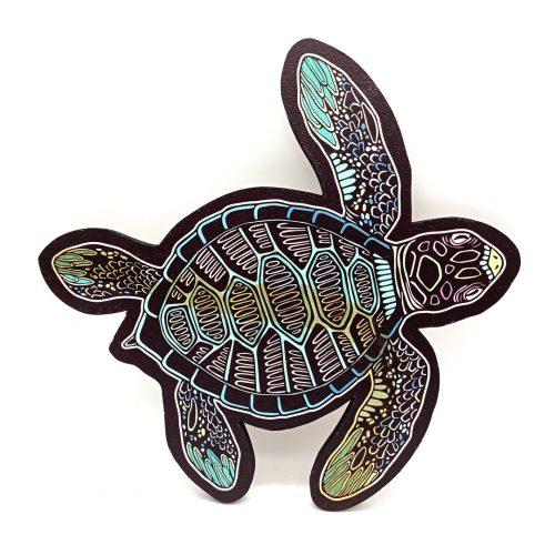 Print on wood – Sea Turtle