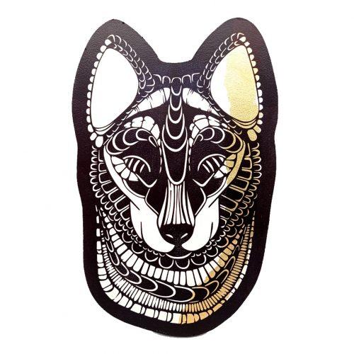 Print on wood – Wolf